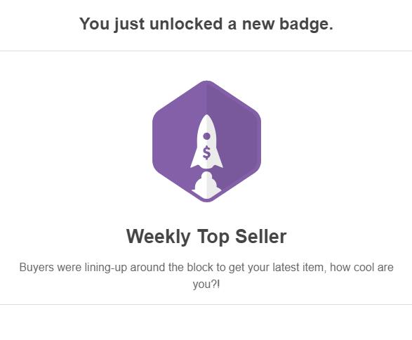 weekly top seller